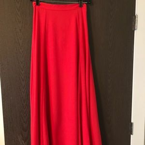 Red Everly Maxi Skirt